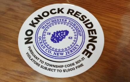 No Knock Sticker