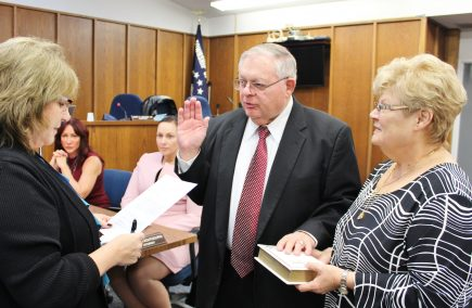 Council Member James A. Vaccaro, Sr., takes his Oath of Office.