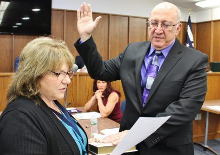 Council Member Samuel F. Fusaro takes his Oath of Office.